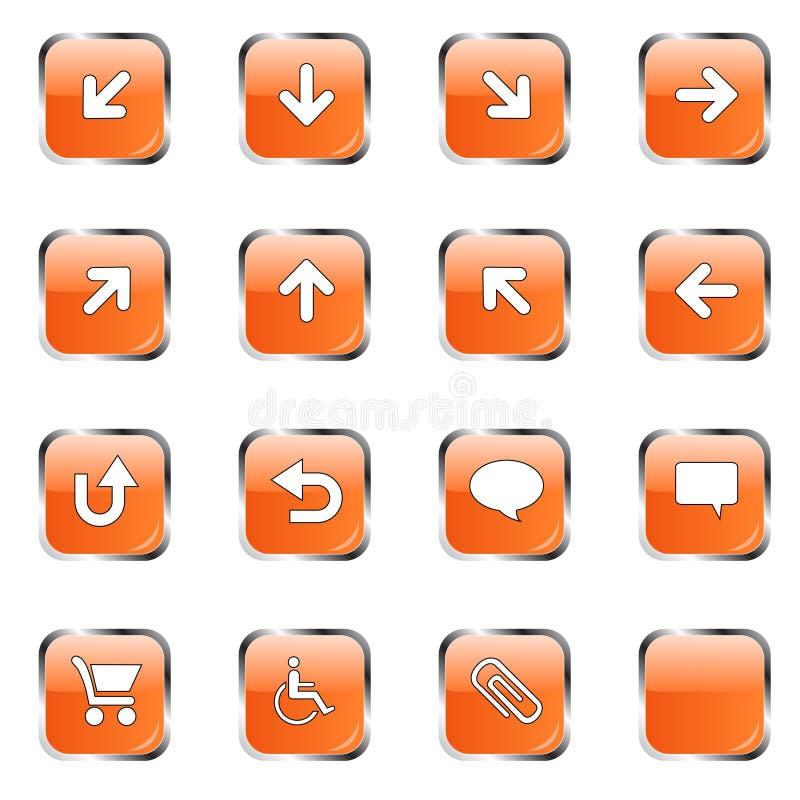 2 ikony kolekcj pomarańcze ilustracji