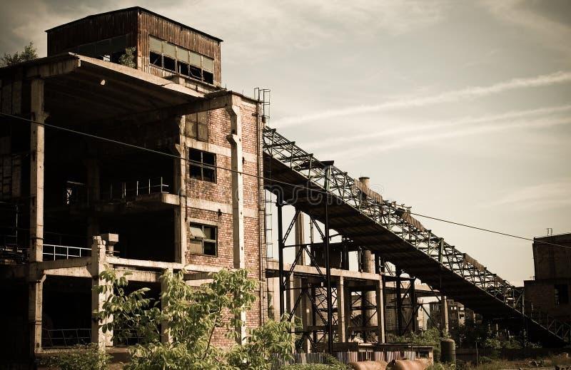 2 industriales abandonados fotografía de archivo