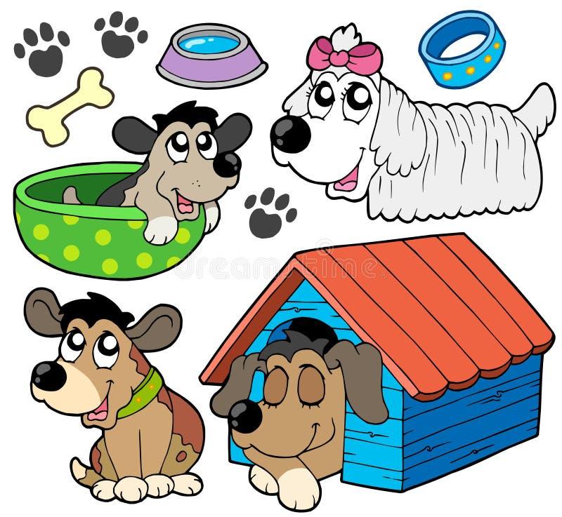 2 inkasowego ślicznego psa royalty ilustracja