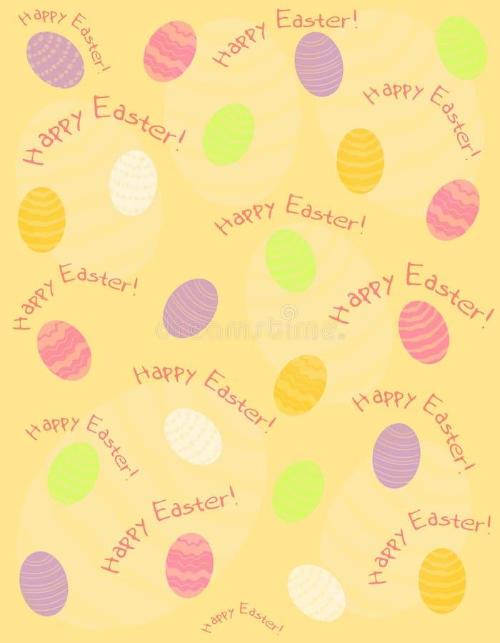 2 jaj w Wielkanoc tła szczęśliwy royalty ilustracja