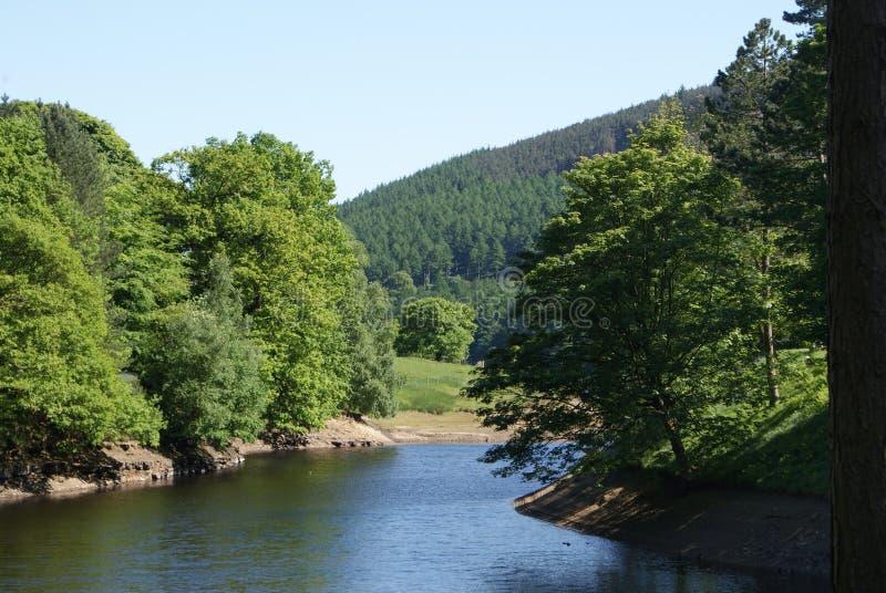 2 jezior widok zdjęcia royalty free