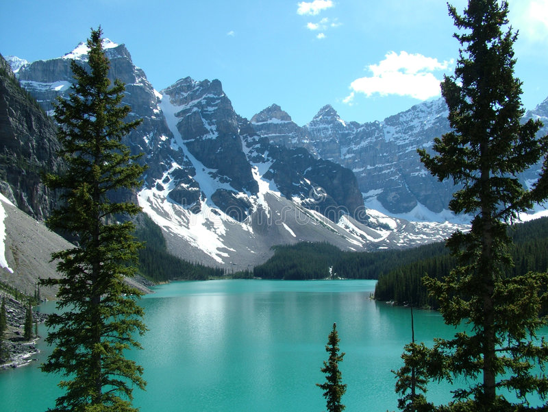 2 jeziornej moreny rocky góry zdjęcie royalty free