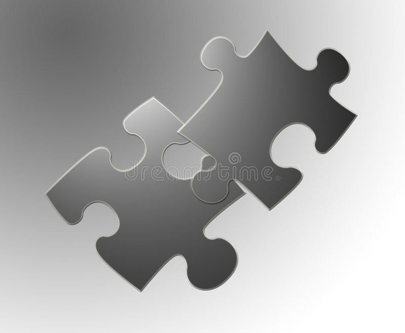 2 jigsaw royalty ilustracja