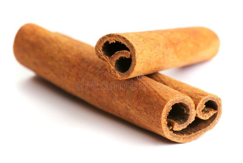 2 kanelbruna sticks arkivfoto