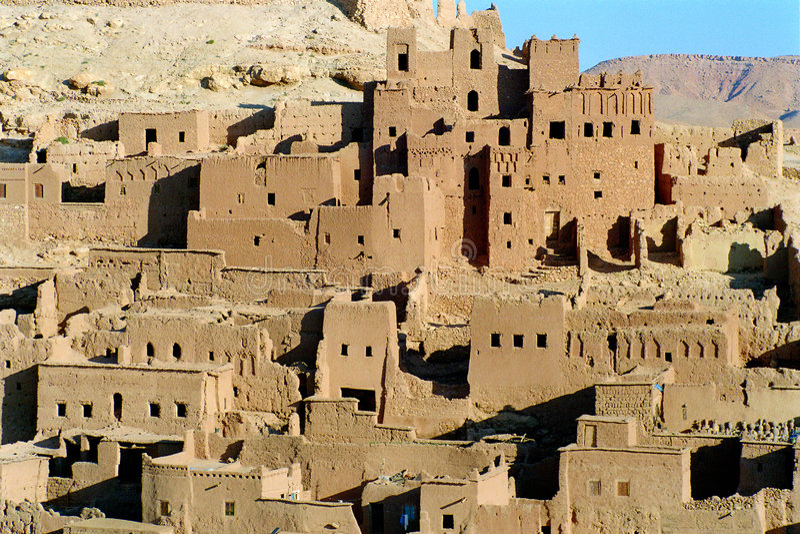 2 kasbah摩洛哥 免版税库存照片