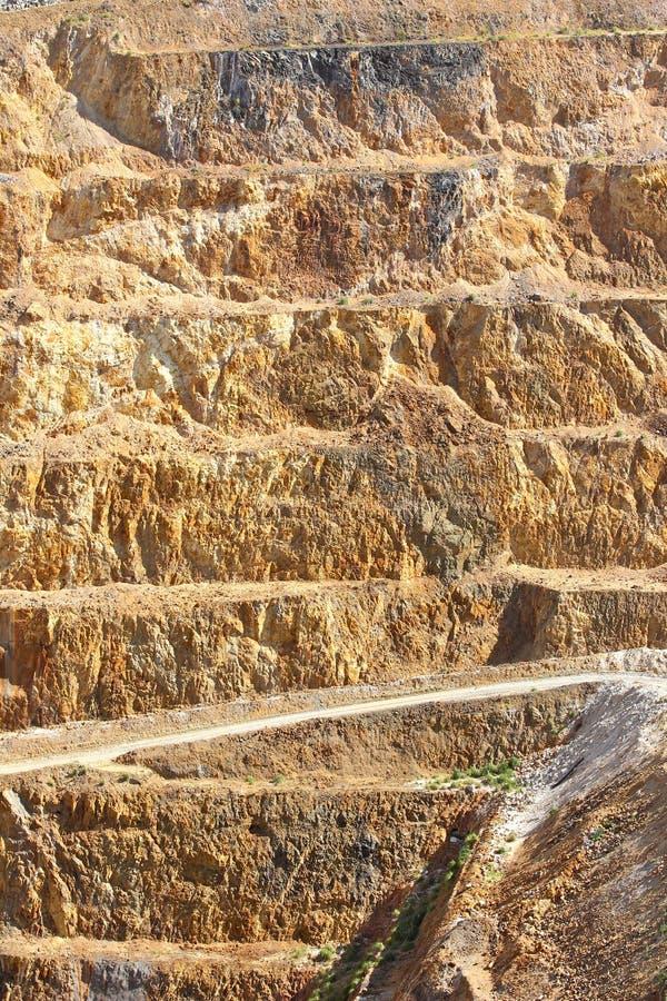 2 kast kopalnia złota otwarta zdjęcia royalty free