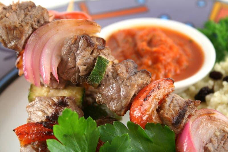2 kebabs говядины стоковое фото