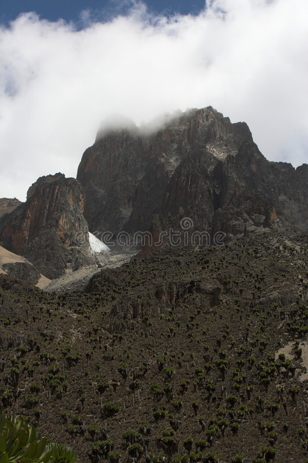 2 Kenya mount chmurna obraz stock