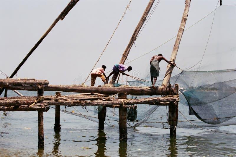 2 kinesiska fisknät royaltyfri foto