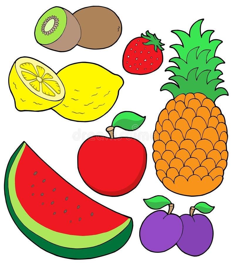2 kolekcj owoców royalty ilustracja