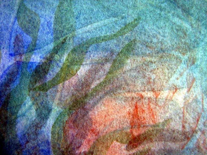 2 kolorowa tekstur akwarela ilustracji