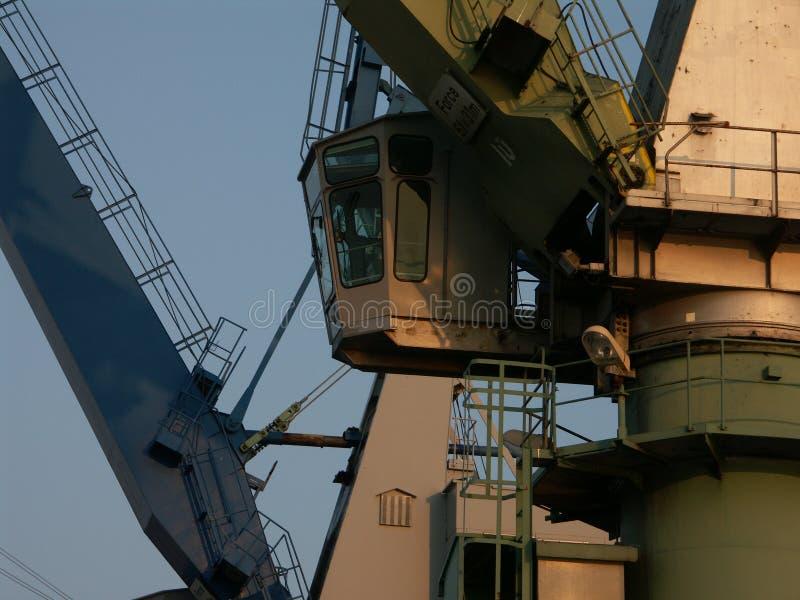 2 Kolorowego Crane   A Zdjęcia Stock