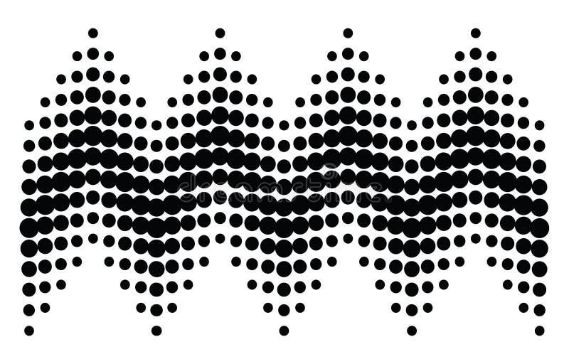 2 kolory w półtonach kropek schematu ilustracji