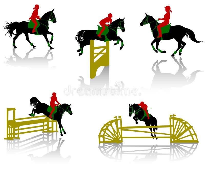 2 konia royalty ilustracja