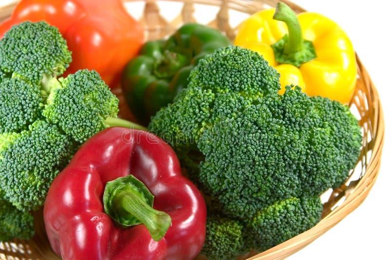 2 koszy warzyw zdjęcie stock