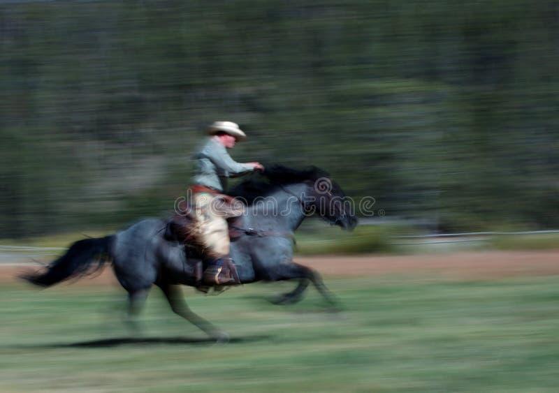 2 kowbojska jazda konno zdjęcie royalty free