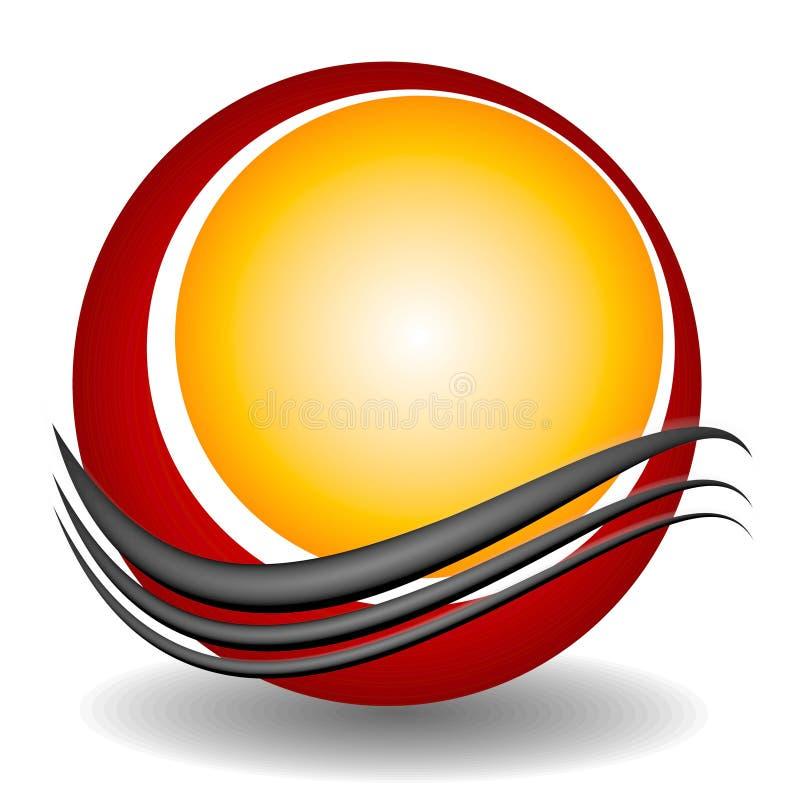 2 kręgów logo miejsca swoosh sieci ilustracja wektor
