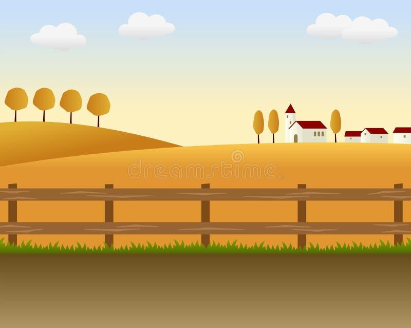2 kraju krajobraz ilustracji
