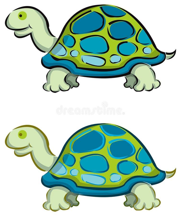 2 kreskówek żółwia obrazy royalty free