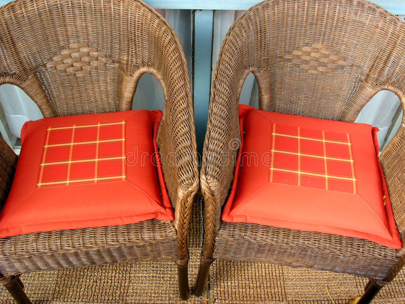 2 krzesła łozinowego zdjęcia royalty free