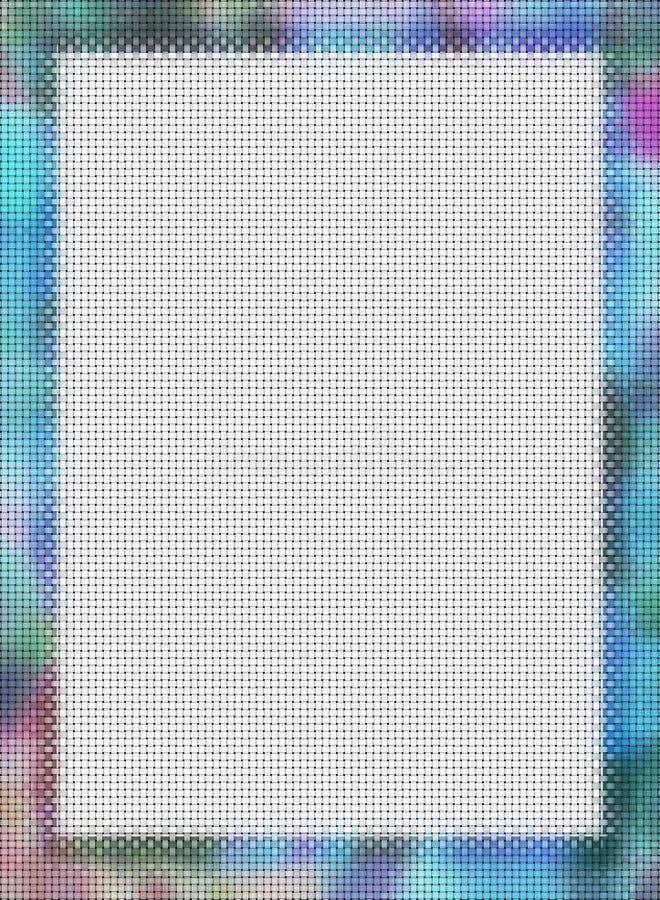 2 krzyżowania zdjęcia ramowy stitch royalty ilustracja