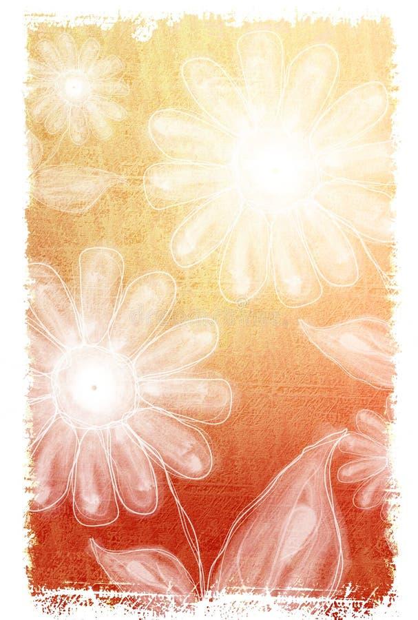 2 kwiatek białego tła ilustracja wektor