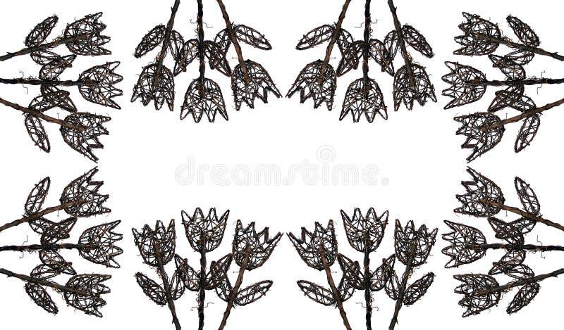 Download 2 Kwiatu Obramiają Drewno Obrazy Stock - Obraz: 9947774