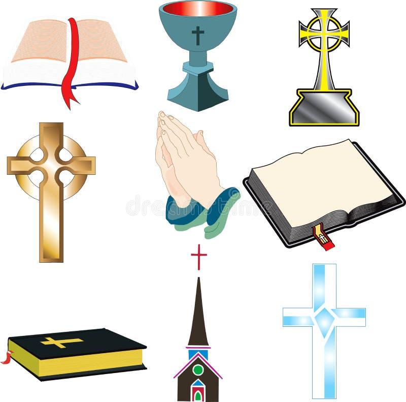 2 kyrkliga symboler royaltyfri illustrationer