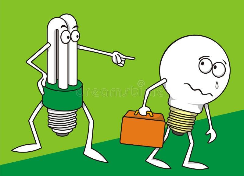 2 lampor stock illustrationer