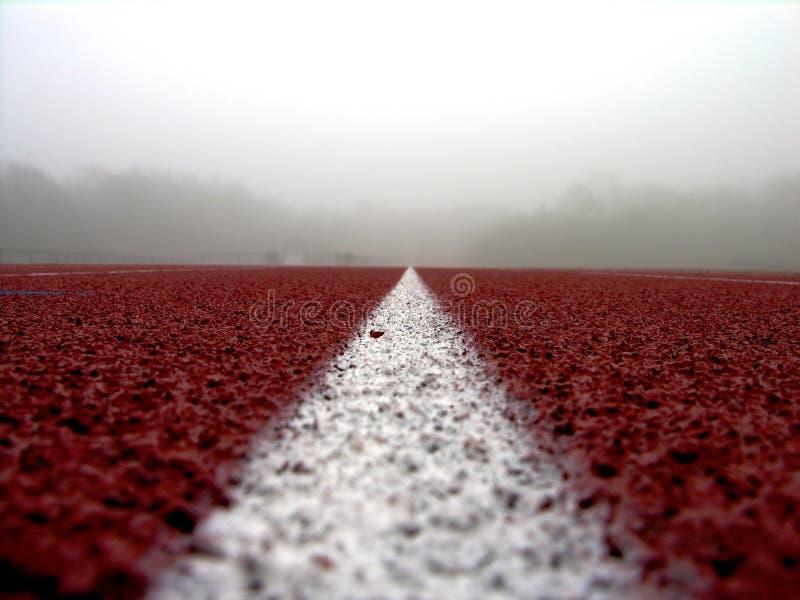2 Linje Röd White Arkivbilder