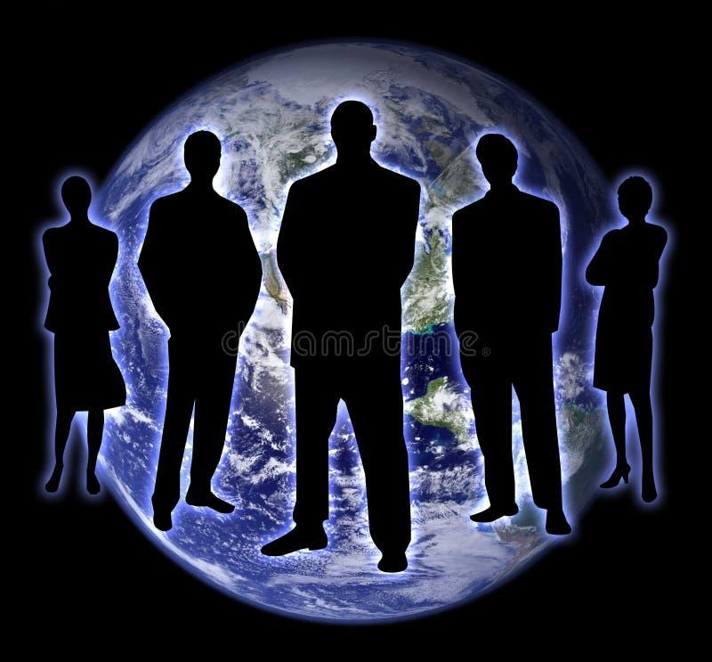 2 ludzie cienia ziemskiego ilustracji