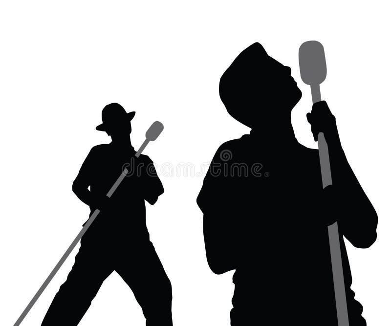 2 Männer, die Vektor singen lizenzfreie abbildung