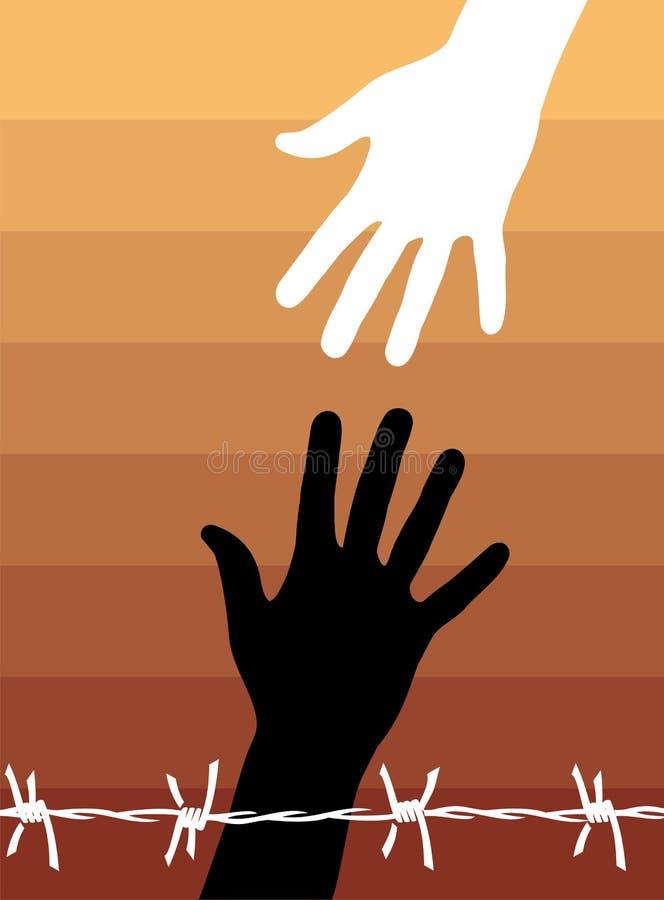 2 mänsklig rättighet stock illustrationer