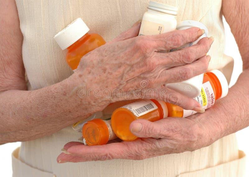2 många mediciner royaltyfri fotografi