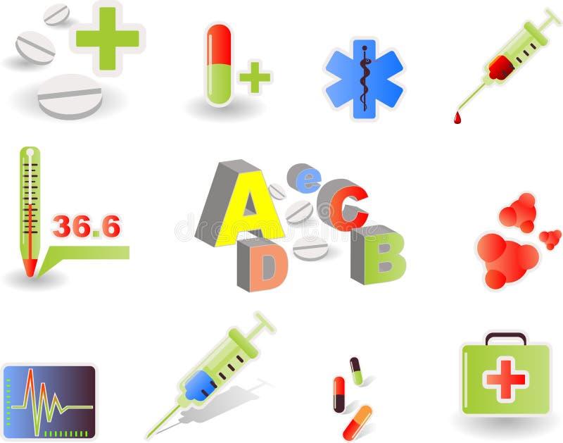 2 médicaux illustration de vecteur