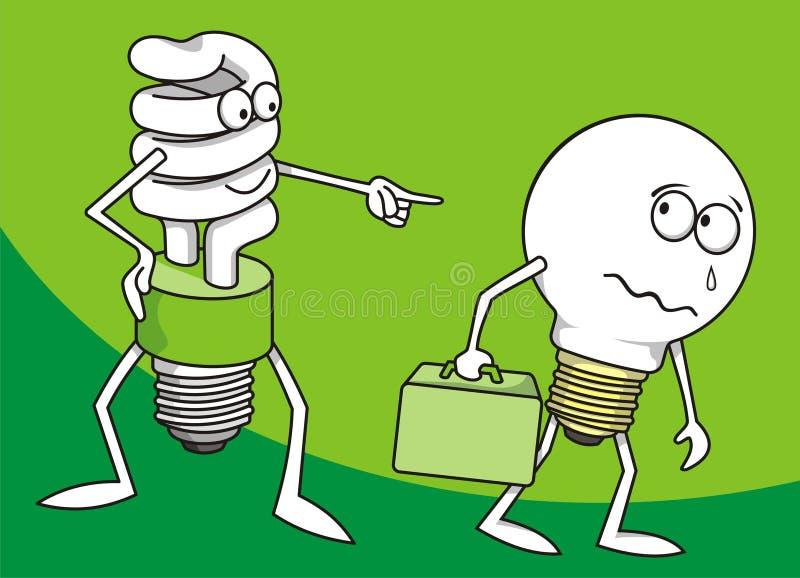 2 mais lâmpadas ilustração stock