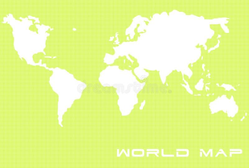 2 mapy świata royalty ilustracja