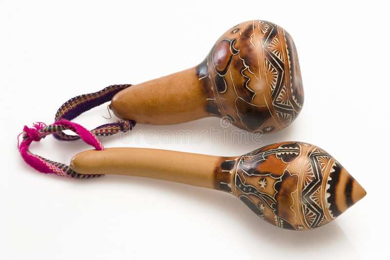 2 maracas перуанского стоковая фотография rf