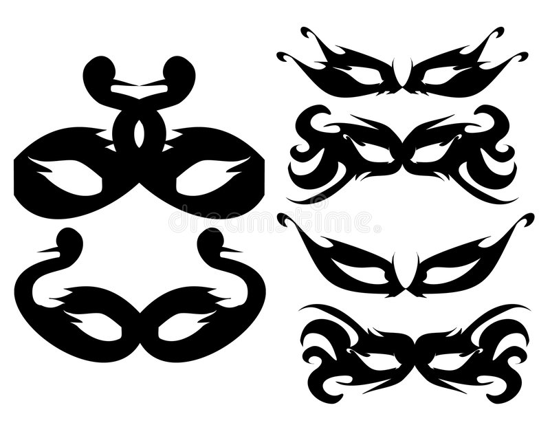 2 maski royalty ilustracja
