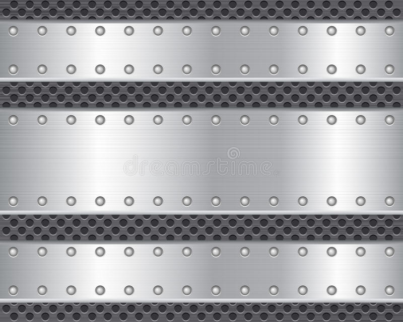 2 metalu talerz ilustracji