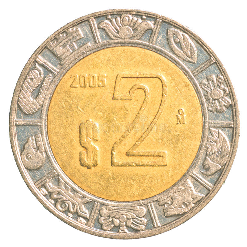 Free 2 Mexican Peso Coin Stock Image - 91903921