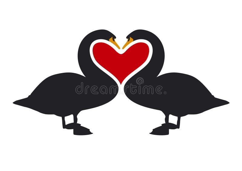 2 miłości bodylanguage projektu royalty ilustracja