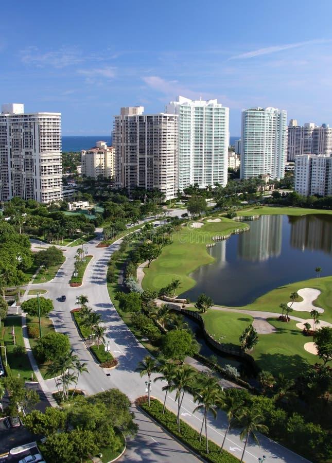 2 miast Florida linia horyzontu fotografia stock