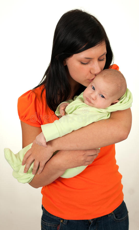 Download 2 Months Baby Boy With Mother Stock Image - Image of caucasian, background: 16424709