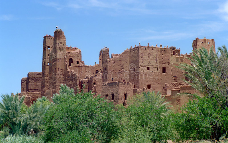 2 Morocco kasbah obrazy royalty free