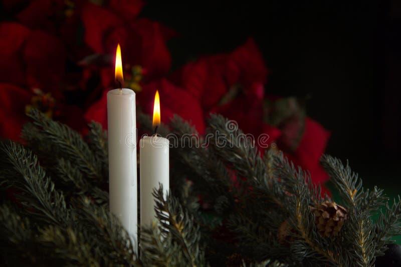 2 nastanie świece. obraz royalty free