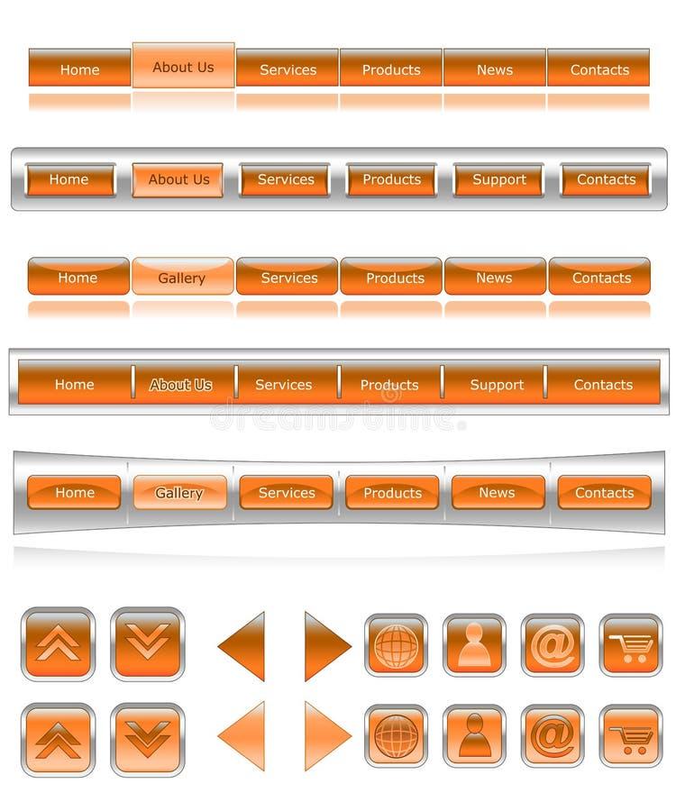 2 navigering v stock illustrationer