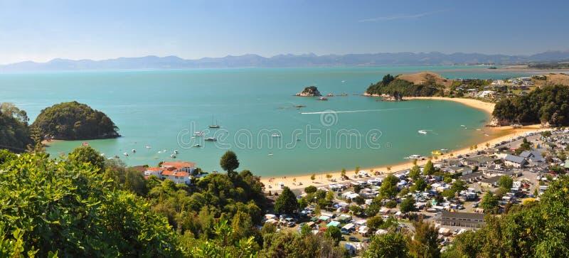 2 nowa kaiteriteri panorama Zealand obraz stock
