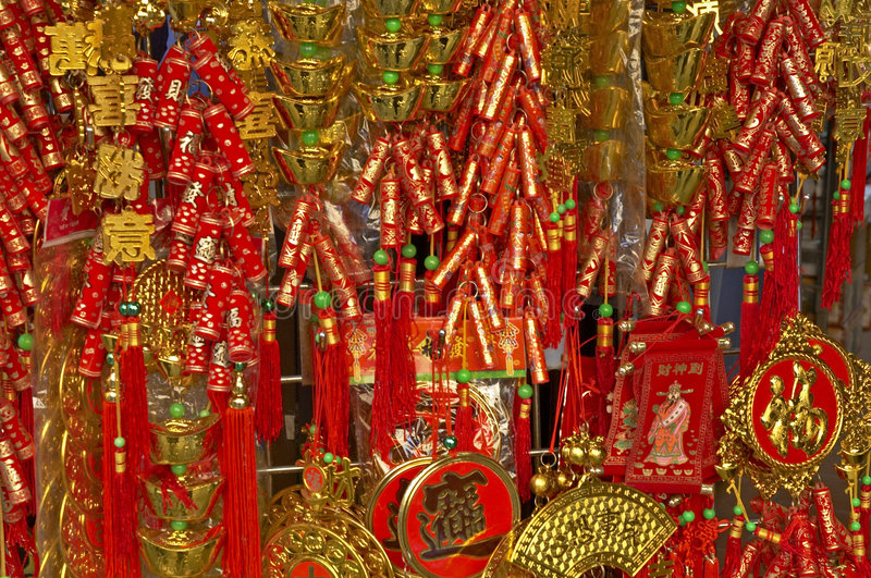 2 nya år för kinesgarnering royaltyfria foton