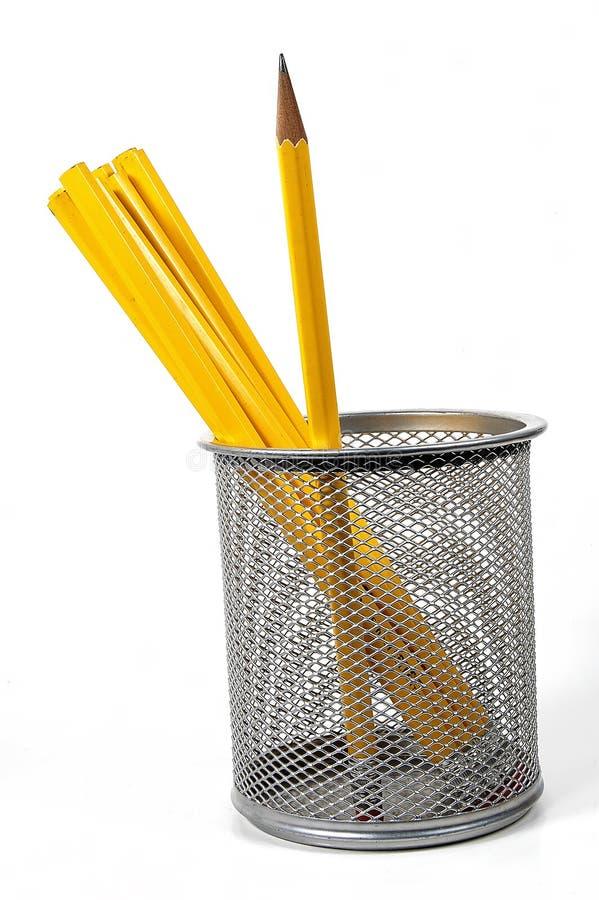 2 ołówka unsharpened zdjęcie stock